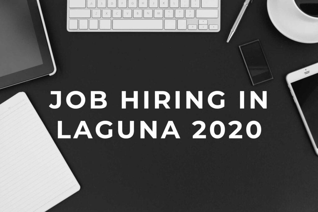 Job Hiring in Laguna 2021